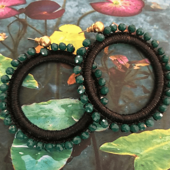 black emerald ring
